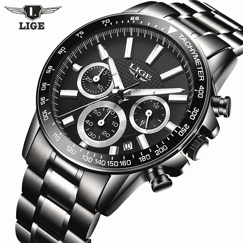 Reloj Hombre 2017 Top Brand Luxury LIGE Fashion Chronograph Sport Mens Watches Military Quartz Watch Clock Man Relogio Masculino mens watch top luxury brand fashion hollow clock male casual sport wristwatch men pirate skull style quartz watch reloj homber