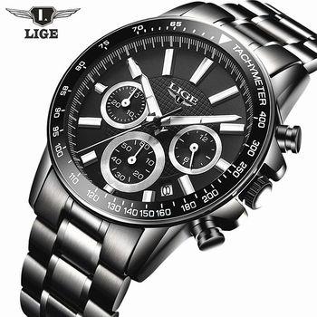Reloj Hombre 2017 Top Brand Luxury LIGE Fashion Chronograph Sport Mens Watches Military Quartz Watch Clock Man Relogio Masculino lige horloge 2017