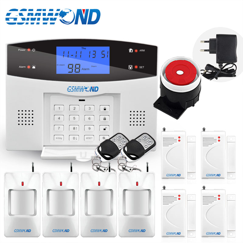GSMWOND Home Burglar Security GSM Alarm System NEW 850 900 1800 1900 Wireless Signaling Motion Sensor