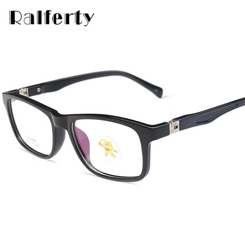Ralferty High Quality Child Glasses TR90 Frame Eyeglasses Girl Boy Square Optical Frames Junior Student Myopia Eyewear 5006