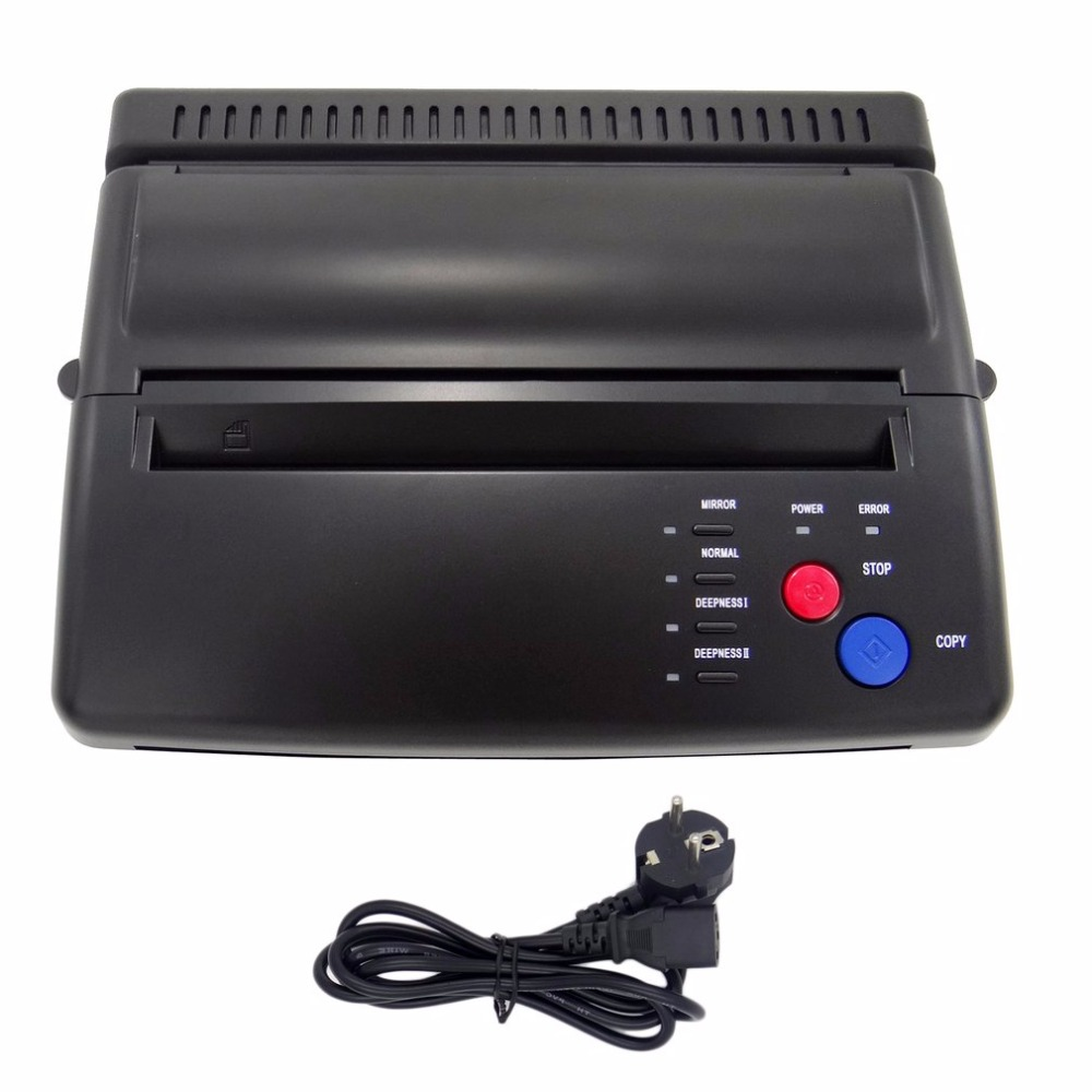 цена на Styling Professional Tattoo Stencil Maker Transfer Machine Flash Thermal Copier Printer Supplies EU Plug Hot New