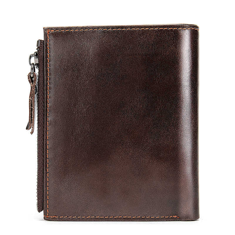 MVA Homens Carteiras de Couro Genuíno Carteiras de Cartão De Crédito Titular Zip Pequeno Homem Carteira Bolsa Da Moeda Da Carteira de Couro Curto Fino homens 604