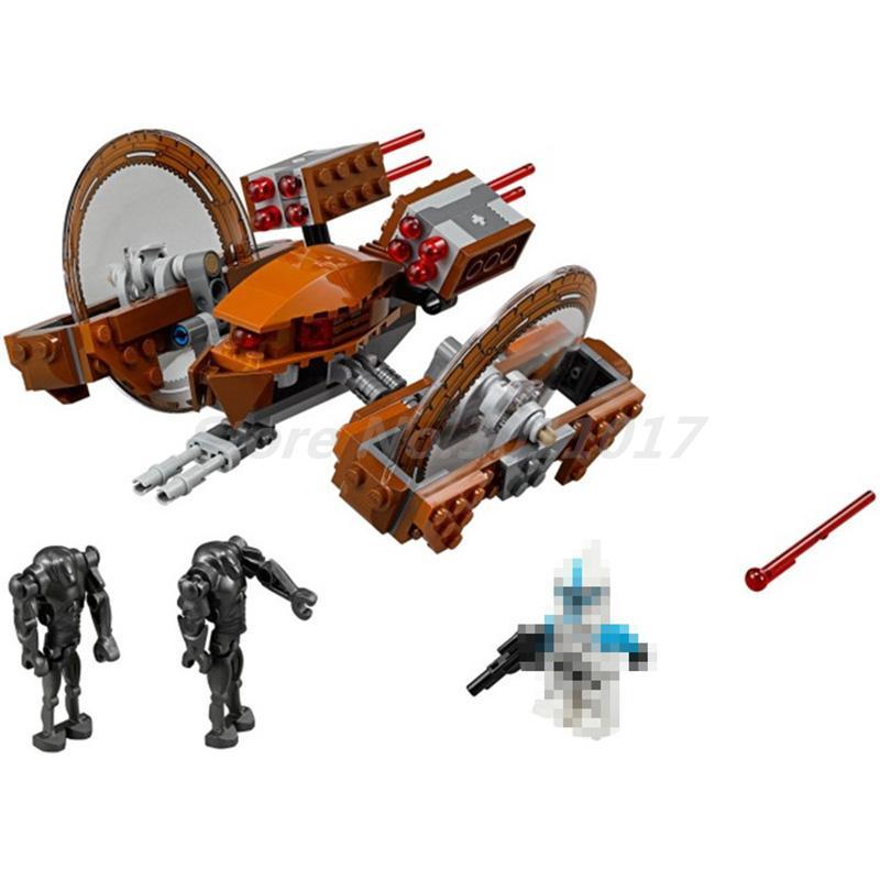 BELA 10370 Star Wars Attack Of Clones Hailfire Droid Exclusive 75085 Building Blocks Bricks DIY Toys For Children Boy Gifts salvatore r star wars episode ii attack of the clones