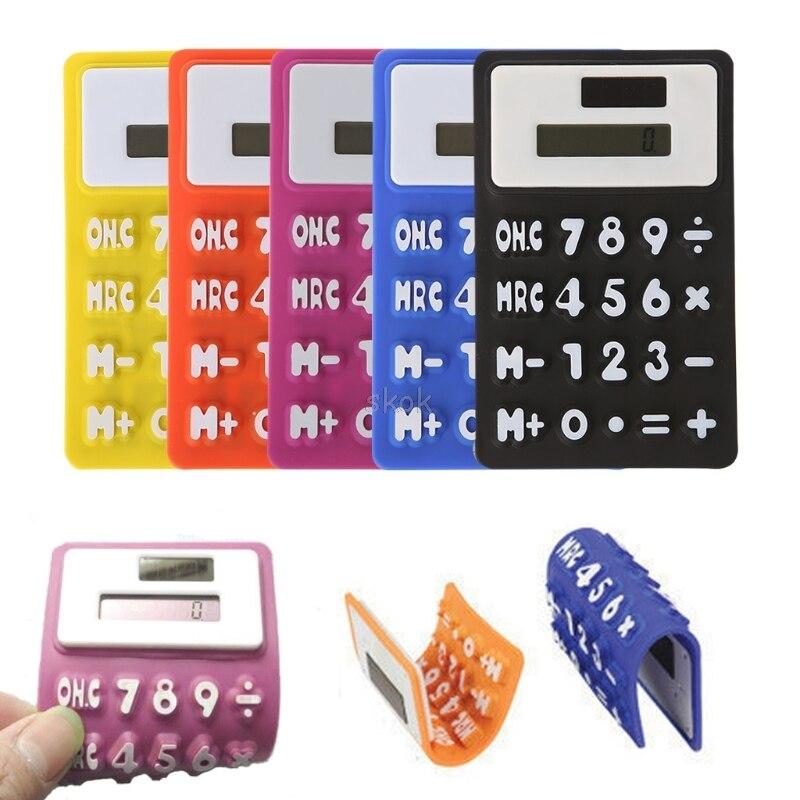 Складной мягкий силиконовый ручной научно солнечный калькулятор для школы и офиса A20 дропшиппинг
