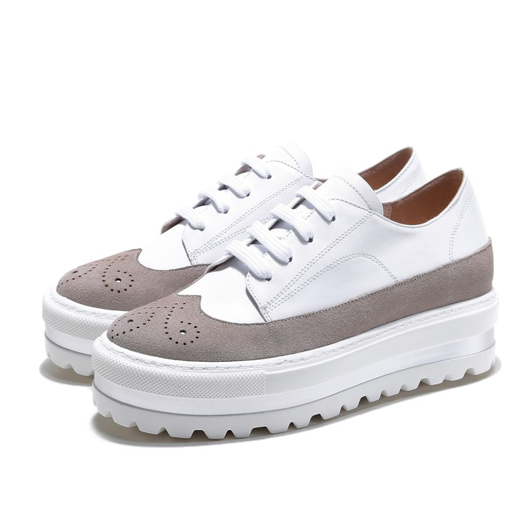 Negro Real Mocasines Mujer Ocio Zapatos Moda De Pisos blanco 2017 Blancos Vaca {zorssar} Casuales Nueva Cuero qY67Oa