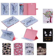 For Galaxy Tab A 9.7 Protective leather cover case for samsung GALAXY Tab A 9.7 T555 T550 9.7″ tablet cases cat Series