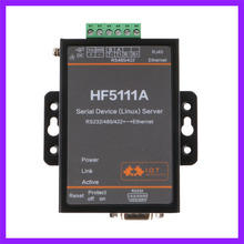 HF5111A 1 Port RJ45 RS232 RS485 RS422 Serial Port To Ethernet Linux Serial Port Server