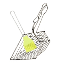 Cat Litter Sand Shovel Pet Shit Useful Cat Pooper Scoopers Artifact Dogs Waste Stainless Steel Metal Shovel Cleaning Scoop Tool