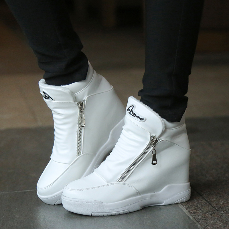ФОТО New Women Casual Shoes Spring Autumn Ankle Boots Height Increased Winter High Top Shoes Sport Zapatillas Deportivas Mujer S136