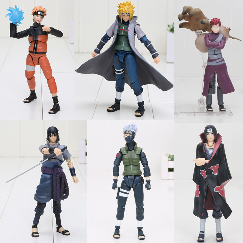 15cm Naruto SHF Figuarts Sasuke Namikaze Hatake Kakashi Uchiha Itachi PVC Action Figures Toys S.H Figuarts Susuke Naruto Figure naruto shippuuden hatake kakashi action figures 15cm japan pvc anime figurines for decoration collection brinquedos boys toys