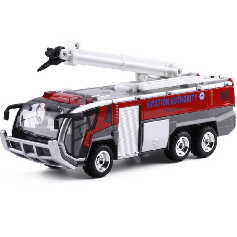 New Fireman Alloy Car Oyuncak Airport Fire Truck Model Children Toy Car Engineering Car Sound And Light Toys Car Miniatures