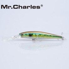 Mr.Charles CMC016 Fishing Lure 90mm/12.5g 0-2.0m suspending Hard Bait Super Minnow Bearking Hot Model Crank Bait 3D Eyes