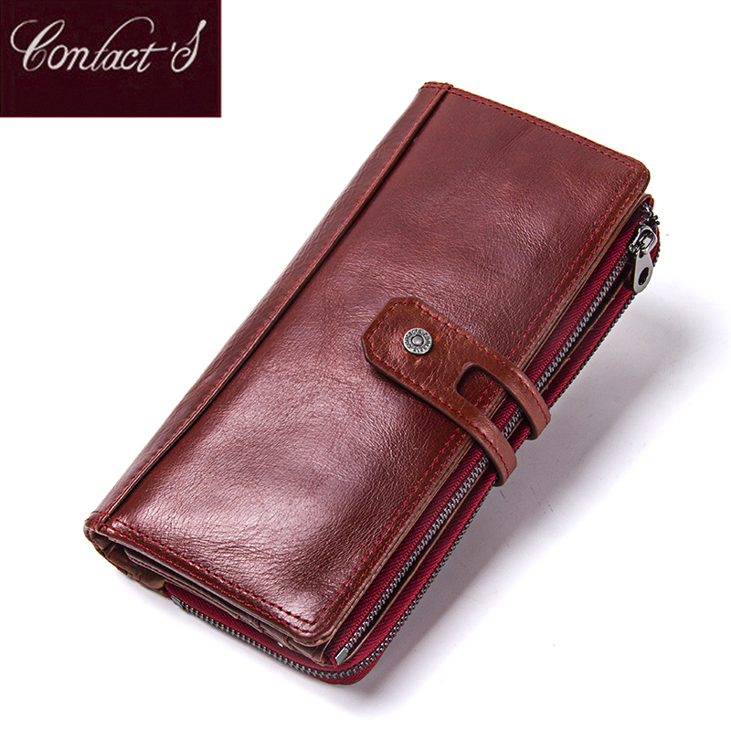 Hot Sale 2018 Wallet Brand Genuine Leather Women Wallets Female Card Holder Long Lady Clutch Carteira Feminina Coin Purse 100% women genuine leather wallet oil wax cowhide purse woman vintage lady clutch coin purses card holder carteira feminina