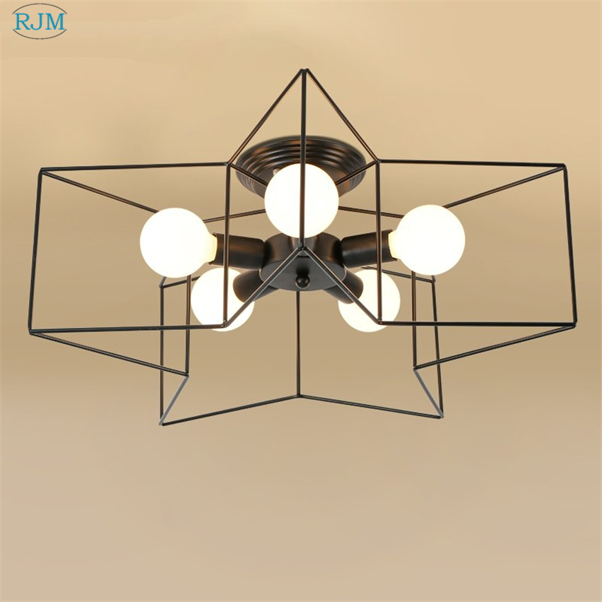 Modern Personality Creative Star Ceiling Lamp Simple Ceiling Light for Living Room Bedroom Bar Cafe Home Lighting Fixtures DecorModern Personality Creative Star Ceiling Lamp Simple Ceiling Light for Living Room Bedroom Bar Cafe Home Lighting Fixtures Decor