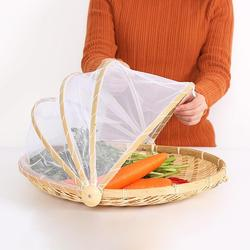 Hand-woven Pest Control Basket Dustproof net picnic food storage basket portable fruit fruit Dust cover fast shipping