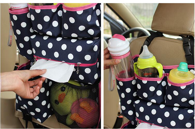Fashion Car Seat Back Storage Bag Car styling Car Organizer Multi functional Baby Items Stowing Tidying Automobiles mummy bag in Nets from Automobiles Motorcycles