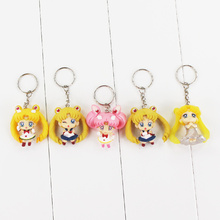 High quality Q version 5pcs lot sailor moon PVC Action Figure font b Toys b font