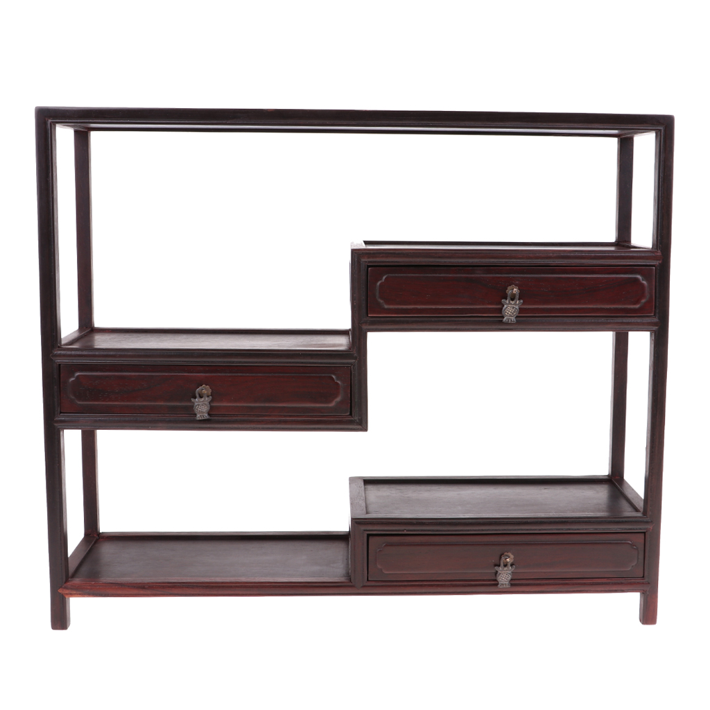 1/6 Scale Dolls House Miniature Rosewood Multi-treasure Shelf Model Furniture Toy for 12'' Action Figure Dolls Accessories 1 6 1 6 scale treasure box gold golden coins for action figure decoration