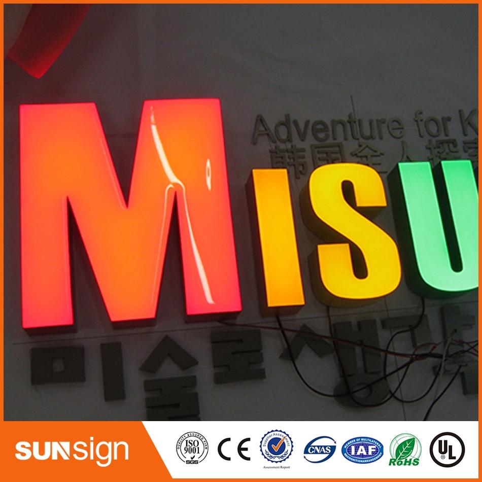 Новый LED эпоксидная смола письмо электронные табло для наружного