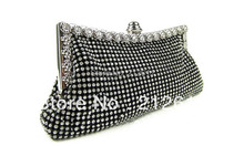 2016 Rushed Real Freeshipping Female Double Layer Full Rhinestone Diamond Circle Ring Evening Bag Day Clutch Bride Bridesmaid