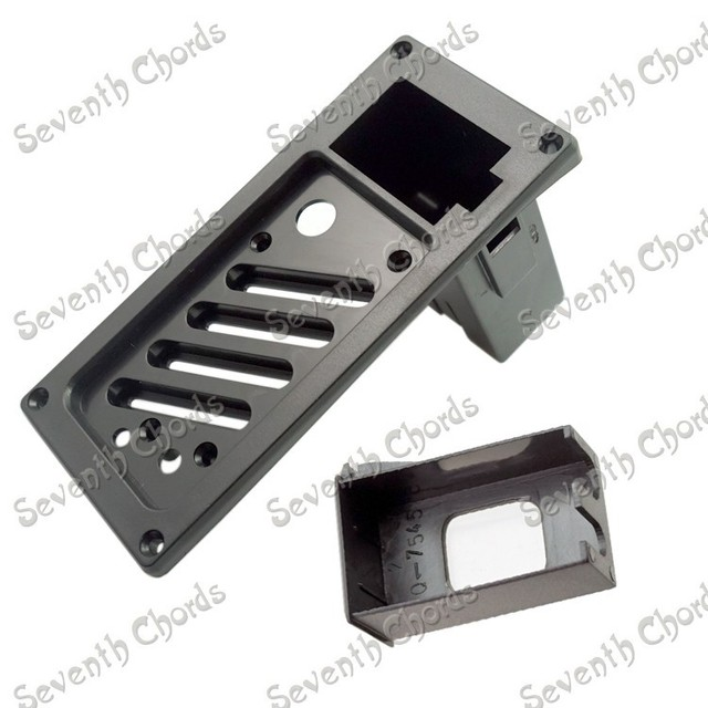 Full straight type 7545 electric box guitar equalizer shell/EQ frame enclosure/EQ housing with battery compartment