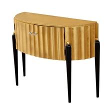30 sztuk opakowanie 120cm pozłacane stół konsolowy szafka boczna z złota folia drzwi i góry nogi z litego drewna tanie tanio Meble do salonu Stół konsoli Meble do domu