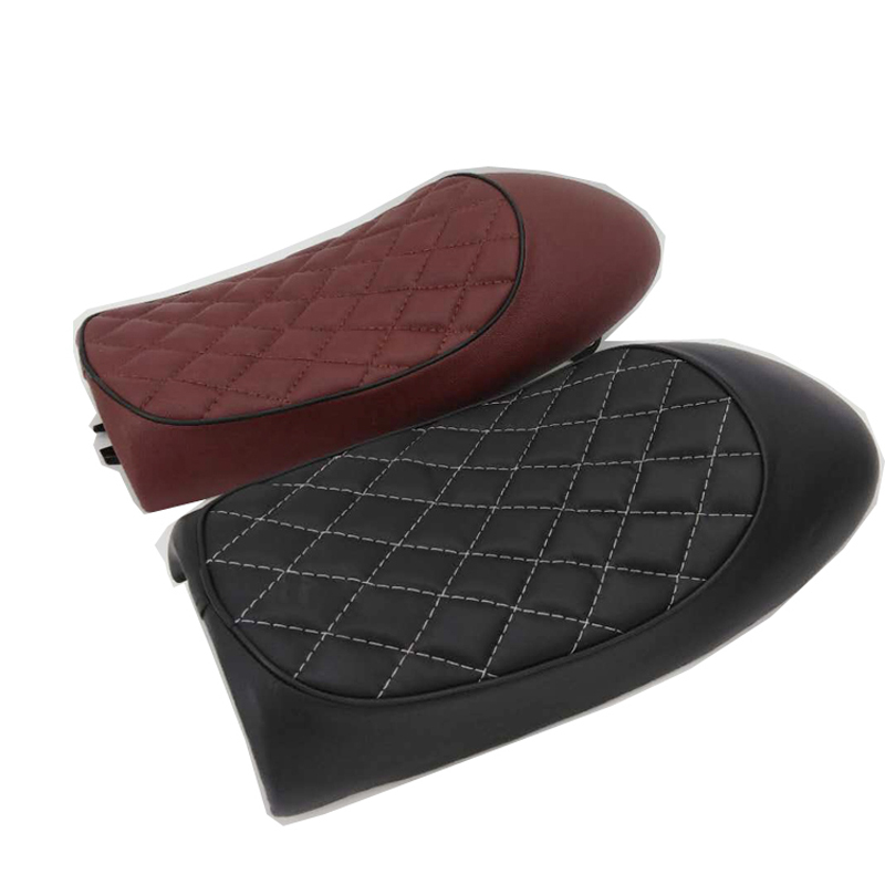 Motorcycle PU Leather Vintage Cafe Racer Seat Hump Saddle Cushion For Honda CG125 GN CG