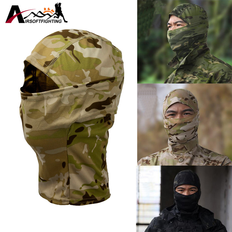 Bionic Camouflage Full Face Mask Hunting Cycling Hiking Quick-dry Hood Windproof Sunshade Scarf Balaclava bionic camouflage full face mask hunting cycling hiking quick dry hood windproof sunshade scarf balaclava