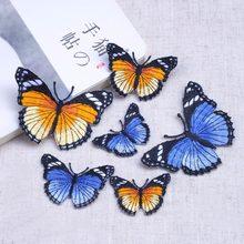 Patchs papillon de différentes tailles, 1 pièce, pour vêtements, appliques pour robe, pull, pantalon en jean, accessoires de bricolage