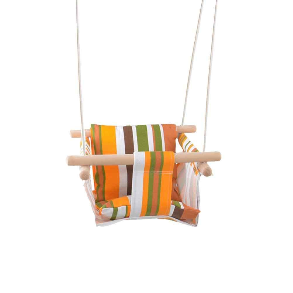 Безопасность ребенка кресло-качалка Висячие качели набор Детская игрушка-качалка однотонные деревянное сиденье с Подушка для младенца для помещений Настенный декор