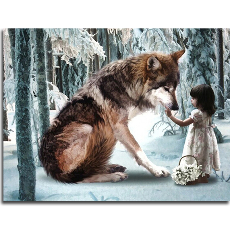 Wolves Girls And Wolf Girl: Aliexpress.com : Buy Wolf And Little Girl Diamond