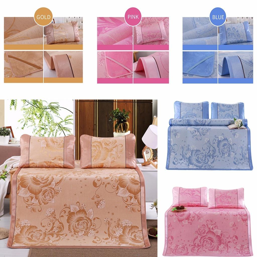 Mats Pillow Crib Summer With -30 Mattress-Mat Cool-Pad Ice-Silk Breathable