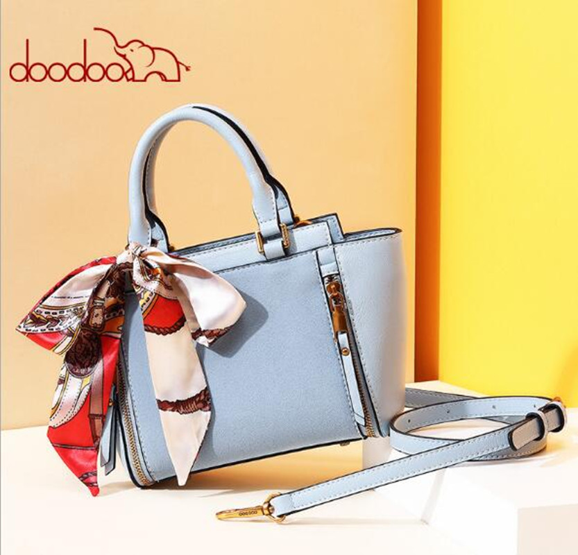 DOODOO Women leather handbags famous brands women Handbag purse messenger bags shoulder bag handbags pouch High Quality FR618 стоимость