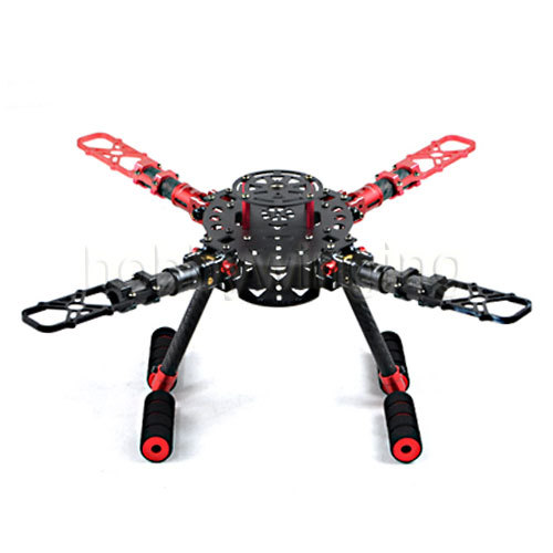 Full Carbon Fiber CNC Z16 Folding Qudacopter 350mm RC Airplane FPV Aerial Photography