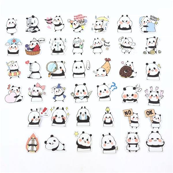 1 пакет, милые Мультяшные декоративные наклейки в Корейском стиле, клейкие наклейки, скрапбукинг, сделай сам, декоративные наклейки для дневника - Цвет: 4