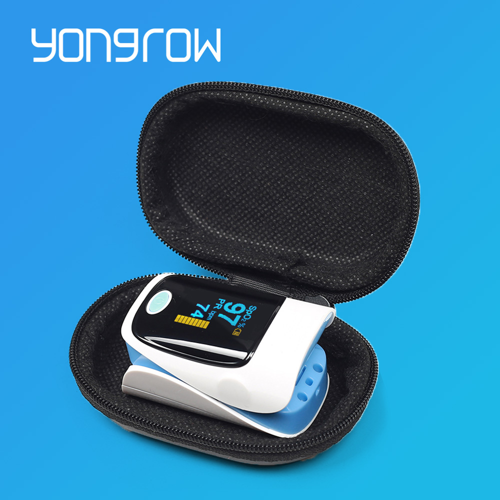 Yongrow Medical Household Digital Fingertip pulse Oximeter Blood Oxygen Saturation Meter Finger SPO2 PR Monitor CE Portable image