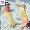 Kids Mermaid Tail Cosplay Navidad Niñas Sirena Colas para Nadar Cosplay Traje de Baño Nadar Sin Monoaleta