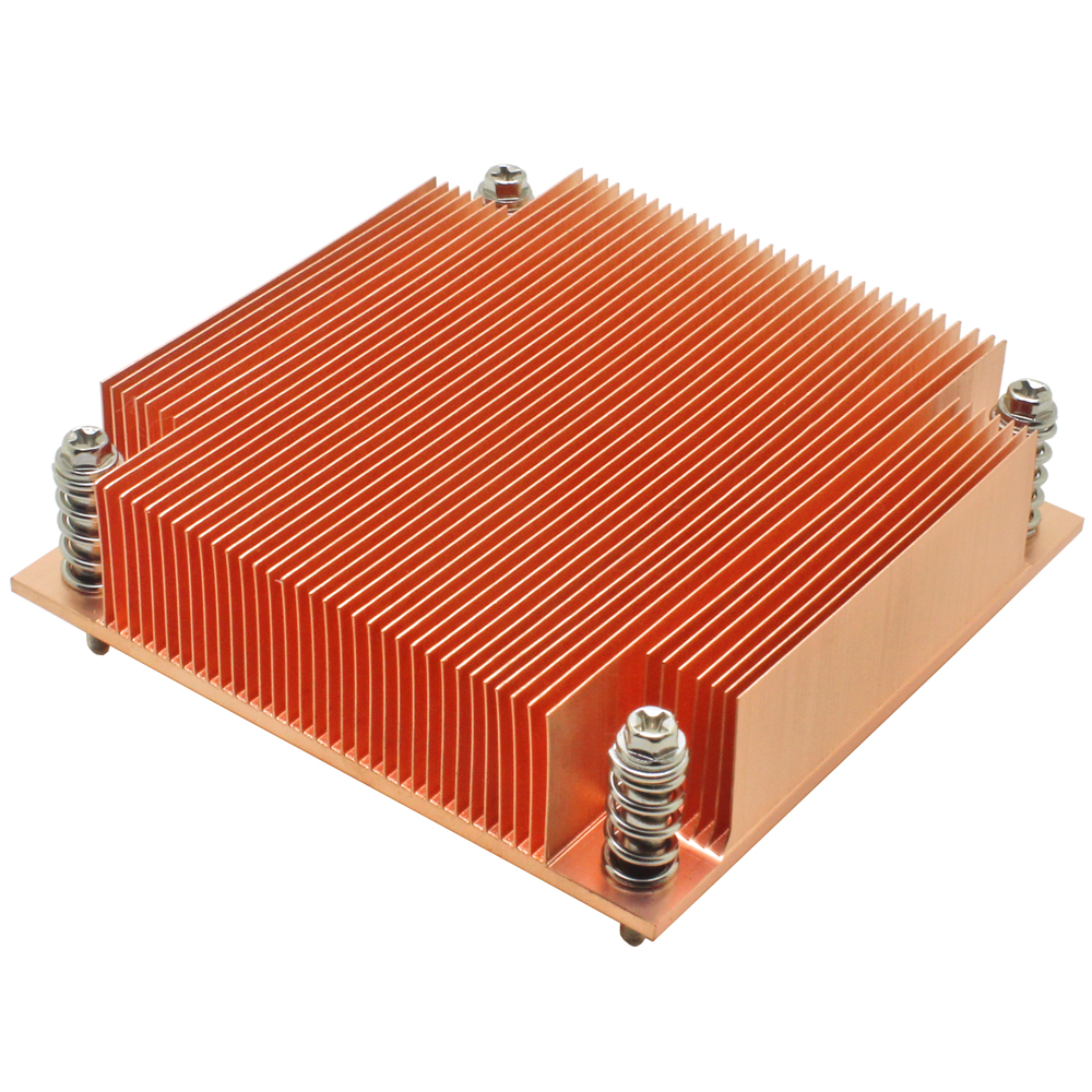 1U server <font><b>CPU</b></font> cooler copper skiving fin heatsink for <font><b>Intel</b></font> 1150 <font><b>1151</b></font> 1155 1156 i3 i5 i7 Industrial computer Passive cooling image