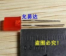 VERMELHO 02-52 100 pçs/lote 2X5X7 praça LED Red light-emitting diode