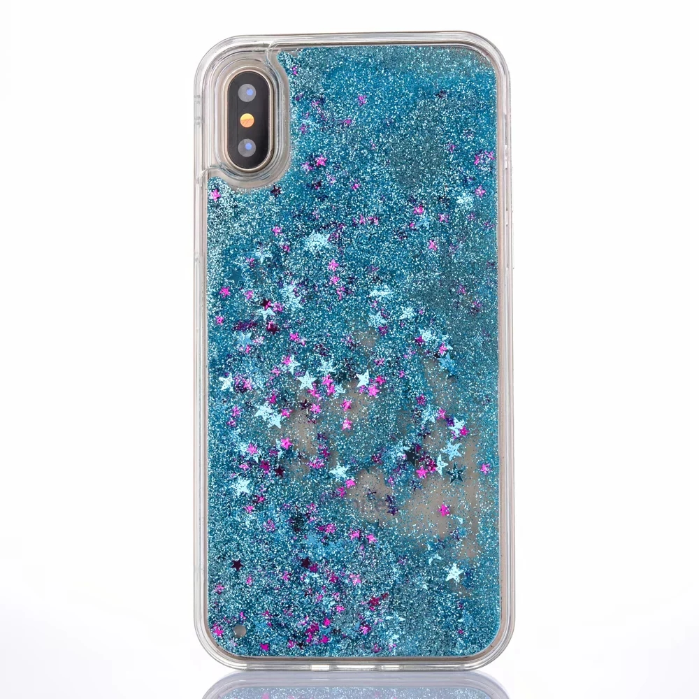 size 40 d66bd 04d4e US $3.69 |Dir Maos For iPhone Xs Max Case X Xr 8 Plus 7 Plus 6 6s Soft  Water Cover Cute Girly Cool Clear Glitter Sands Stars Amusing Cute-in  Fitted ...