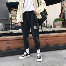 Kwietnia MOMO modne spodnie High Street na co dzień mężczyźni spodnie New Arrival w stylu Hip-Hop męskie spodnie męskie w stylu Vintage spodnie dresowe spodnie tanie tanio Pełnej długości April MOMO Cargo pants Hip Hop REGULAR COTTON Jedwabiu Midweight Mieszkanie Płótno Elastyczny pas AP908