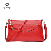 LI REN NIAO 2017 Famous Brand Women Bags Split Leather Shoulder Bags for Women Leather Crossbody Bags Messenger Bags LRN-2576
