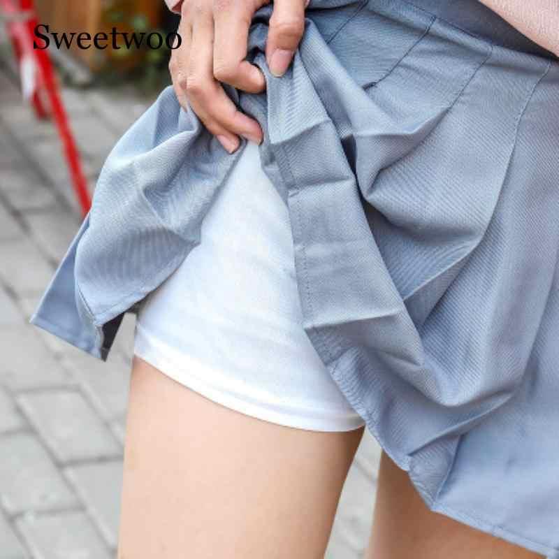 Dziewczyny kraty krótki sukienka wysokiej talii plisowana spódnica do tenisa jednolite z wewnętrzną szorty kalesony do gry w badmintona cheerleaderka