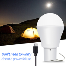 Portable LED Bulb Solar Outdoor Lamp 15W Camping Light USB Rechargeable Emergency Garden Power