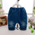 2016 summer new baby pants trousers casual pants trousers baby boy jeans children soft navy blue casual Spring Free shipping