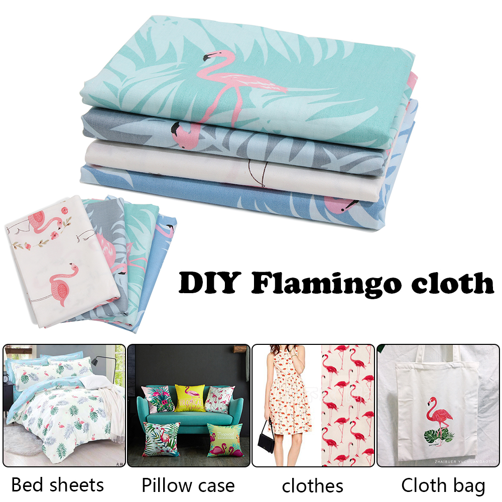 Aliexpress.com : Buy 1 pc Soft Handmade DIY Craft Cotton Flamingos Fabric Flower Printed Patchwork Needlework Sewing Textile Baby Clothes Pillow Bag from ...
