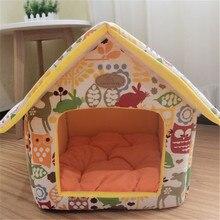 Печать холст съемная домашняя кровать для собак с теплой съемной подушкой питомник клетка для питомцев для щенков собак кошек 5c& S-L размер