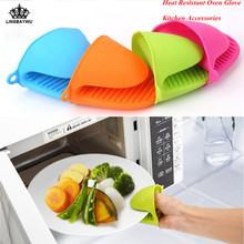 1Pcs Silicone Heat Resistant Gloves Clips Multifunction Anti-slip Pot Bowel Holder Clip Baking Oven Mitts Kitchen Accessories
