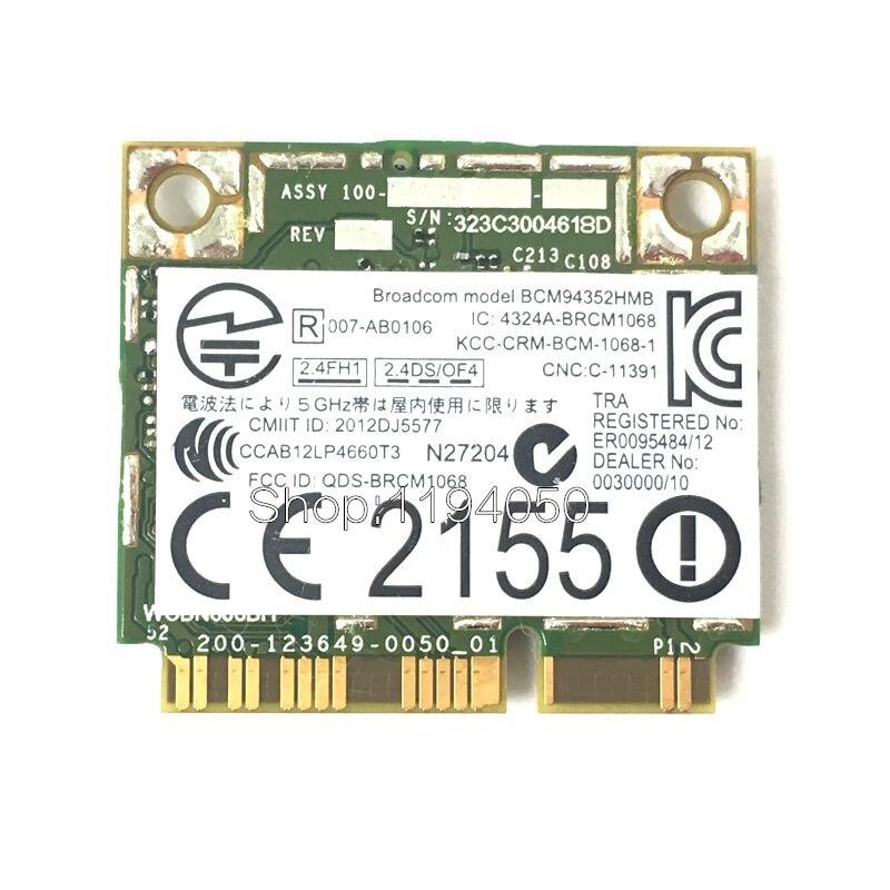 BCM94352HMB DW1550  BCM94352 802.11 / Ac 867Mbps Wifi Semi-mini PCI-E Wireless Card With Bluetooth New