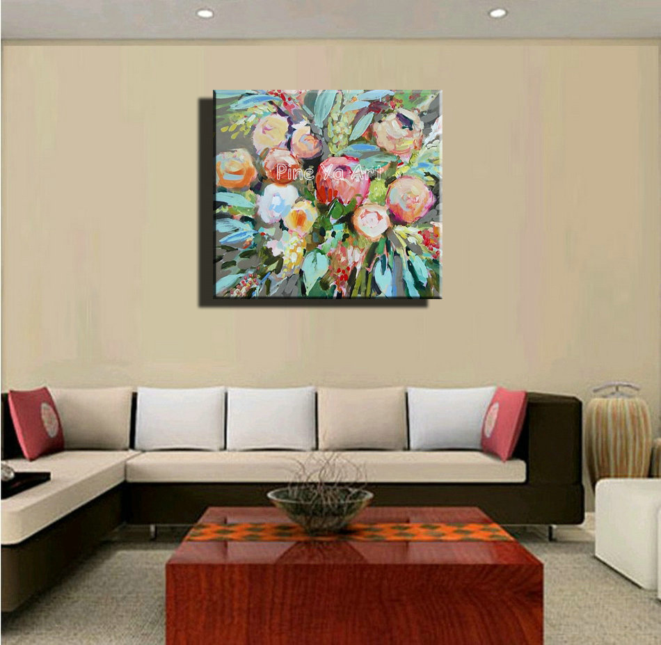 Painting Canvas For Living Room Aliexpresscom Buy Famous Artist Acrylic Paint Bedroom Abstract